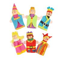 大贸商 国王手指偶 皇室家族系列娃娃指偶 讲故事好帮手 一套6个 AF25038