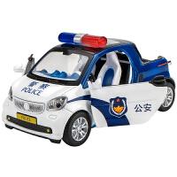 合金皮卡警车玩具车仿真六轮越野车儿童声光回力玩具警车汽车模型