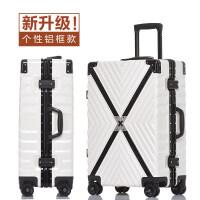 网红行李箱女抖音拉杆箱万向轮潮铝框旅行箱男学生密码登机箱