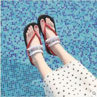 简约波西米亚沙滩凉鞋女平底新款海边夹脚时尚外穿人字拖女