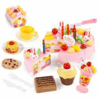 贝恩施儿童过家家大号切切乐蛋糕 女孩 生日蛋糕厨房玩具3-6岁
