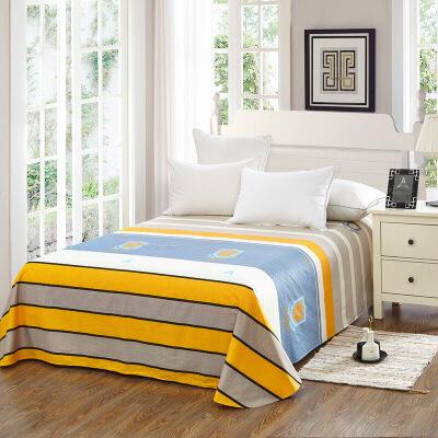当当优品 纯棉斜纹床上用品 床单200*230cm 律动当当自营 100%纯棉 不易褪色 环保印染 透气防潮