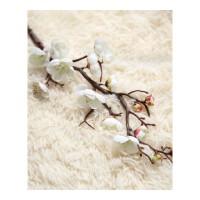 假桃花树枝 单支仿真花梅桃花干家居客厅装饰插花干花树枝假花摆件 白色