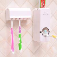 自动挤牙膏器挤压器带5位牙刷架免打孔挤压器牙膏带牙刷架套装卫浴置物架 KB7101