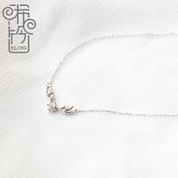森系韩版鹿角项链女纯银小清新气质饰品简约锁骨链学生