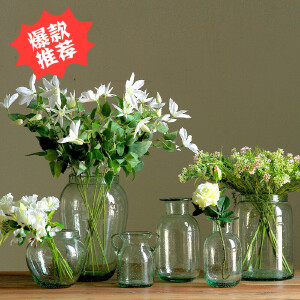 【每满100减50】幸阁 插花现代气泡彩色玻璃花瓶花插 干花花瓶