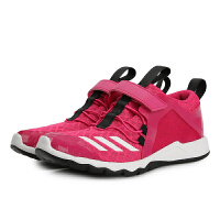 【4折价:187.6元】阿迪达斯(adidas)童鞋新款女童透气休闲网面运动鞋舒适跑步鞋D97605 玫红
