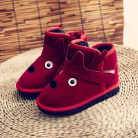 儿童雪地靴2018秋冬季新款靴子加绒女童棉鞋宝宝短靴男童冬鞋童鞋