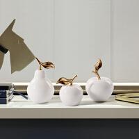 北欧摆件现代简约家居办公室装饰品摆设软装创意工艺品大理石苹果