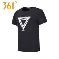 【2件4折】361度男装短袖2019夏季新款361舒适休闲运动圆领T恤551822105