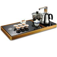 美茗 自动上水茶盘套装电热水烧水壶家用泡茶钢化玻璃家用茶具茶盘套装送茶具