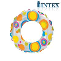 INTEX流行组浮圈59230/59241游泳圈儿童透明浮圈救生圈(随机发)