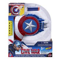 漫威美国队长3英雄内战盾牌发射器男孩玩具头盔钢铁侠护腕