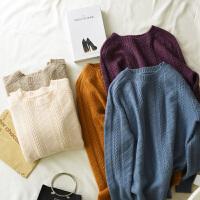秋冬新款加厚纯羊绒衫女圆领短款韩版保暖打底毛衣套头针织衫线衣