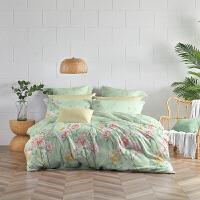 LOVO家纺 玻尿酸全棉床品四件套 凉棚之下床单被套枕套 花遇香吟