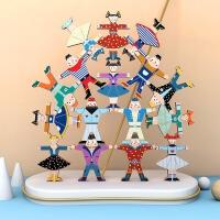 大力士平衡叠叠高积木平衡人偶亲子互动益男智动脑叠叠乐儿童玩具