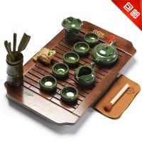 林仕屋 整套功夫茶具茶盘实木茶托茶台家用套装 紫砂茶具套装CJT1685