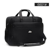 男包牛津布手包商务大容量横款公文包单肩电脑包17寸工作包男士