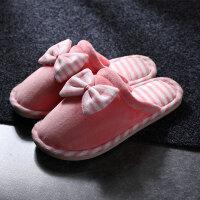 棉拖鞋家用秋冬季居家室内可爱保暖月子家居男女情侣 H36-37 适合34-35脚