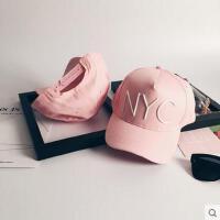 帽子 嘻哈帽 棒球帽 韩版帽子女棒球帽百搭休闲NYC字母遮阳防晒帽户外鸭舌帽男潮