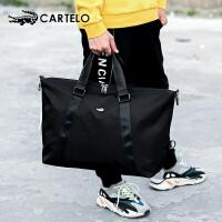 卡帝乐鳄鱼旅行包手提运动健身包男士大容量行李包出差单肩旅行袋
