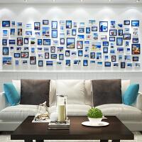 客厅照片墙装饰创意个性相框墙沙发背景墙组合连体挂相片墙免打孔