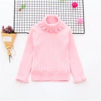 女宝宝加绒毛衣打底衫1-2-34岁儿童加厚线衫高领女童加绒针织毛衣
