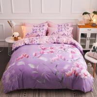 磨毛四件套全棉棉欧式床上用品简约1.8m床单网红冬季被套1.5m米