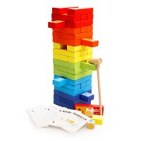 大号叠叠乐彩色认知叠叠高层层叠抽积木益智力儿童玩具桌游