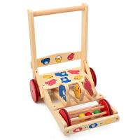 木质小孩子助步车手推玩具学步车婴幼儿童宝宝推车