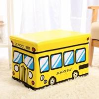 大号汽车收纳凳储物凳子 可坐人可折叠儿童玩具卡通收纳箱