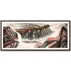 公启明《山水金秋》著名画家