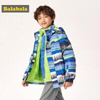 【3件3折价:149.4】巴拉巴拉儿童加厚棉服男童棉衣2019新款秋冬三合一冲锋衣两件套潮