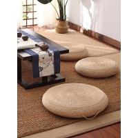日式蒲�F草�坐�|地上加厚�A形榻榻米座�|家用便�y打坐�|�U修�| 蒲草原色(厚度10cm)