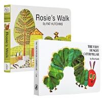 【中商原版】廖彩杏纸板书2册 The Very Hungry Caterpillar好饿的毛毛虫