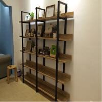 置物架墙上钢木书架墙壁铁艺客厅架子隔板简约现代搁板柜书架