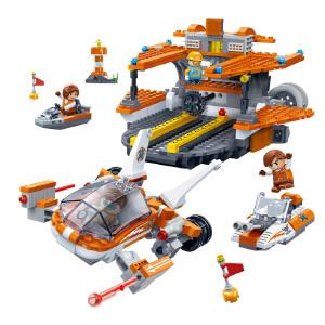 【当当自营】【当当自营】邦宝益智拼装积木玩具塑料493小颗粒拼插5岁男孩玩具礼物 终站时刻7403
