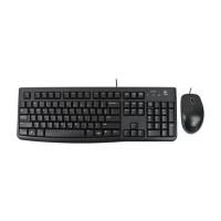 罗技MK120有线键鼠套装游戏键盘鼠标套USB台式机电脑办公黑色
