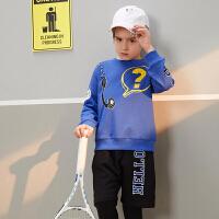 【2件3折价:99】巴拉巴拉旗下 巴帝巴帝男童套装19春新款宽松运动假两件中大童