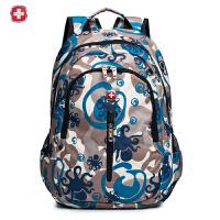 瑞士军刀 时尚潮流背包 可爱大容量双肩包 休闲电脑包 学生包SA1429印花迷彩色