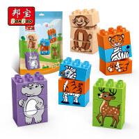 【大颗粒】邦宝儿童早教益智创意积木拼装玩具礼品系列动物伙伴9003