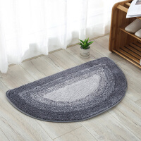 半圆入户门厅卧室地垫门垫进门地毯浴室卫浴卫生间吸水脚垫防滑垫 灰色 渐变