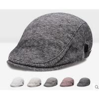 男女帽子 韩版潮帽 女韩版潮复古纯色鸭舌帽贝雷帽男士帽子休闲帽