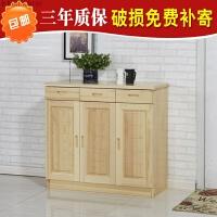 鞋柜实木简约现代经济型实木多功能松木鞋柜对开门两门三门 组装