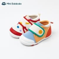 迷你巴拉巴拉婴儿学步鞋2021春季男童女童鞋卡通印花防滑透气鞋子