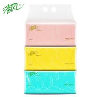清风 抽纸抽取式面巾纸200抽2层3包婴儿家用卫生纸餐巾纸纸巾