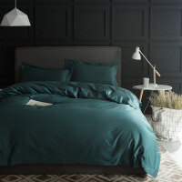 床上用品四件套100支棉1.5m1.8米床色简约双人床单被套北欧风
