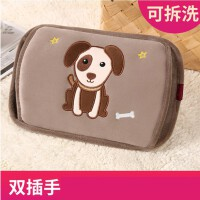 韩版卡通热水袋充电式暖手宝女敷肚子��宝宝毛绒可爱学生注水电暖水袋