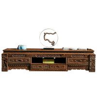鸡翅木电视柜客厅 实木组合地柜 仿古简约中式新古典家具 整装
