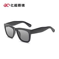 亿超新款太阳镜 儿童款时尚个性大框潮方框彩膜 男女款墨镜D7997